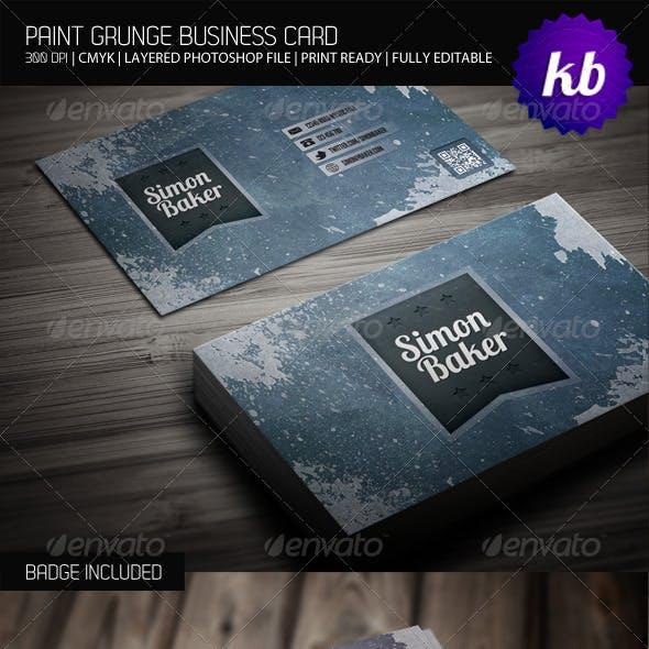 Paint Grunge Business Card