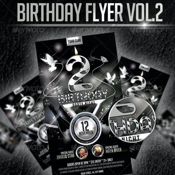Birthday Flyer Template Vol2