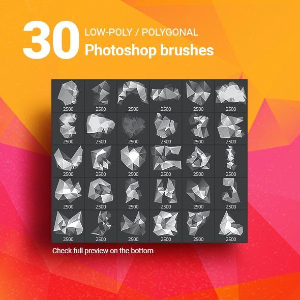 30 Low-Poly / Polygonal / Geometrical Photoshop Brushes #5