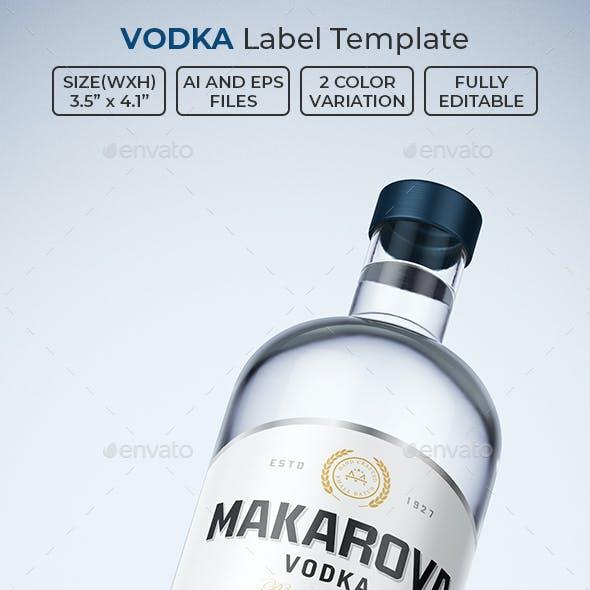 Vodka Label Template