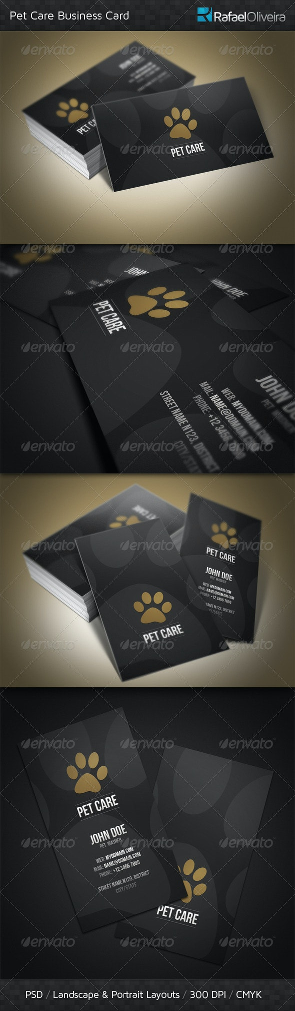 Pet Care Business Card - Industry Specific Business Cards