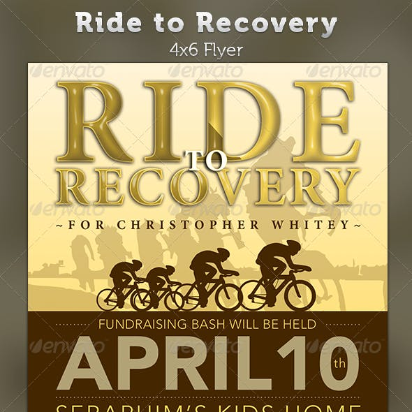 Ride to Recovery: Fundraiser Flyer Template