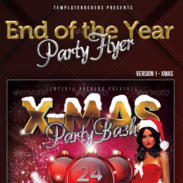End Of The Year Flyer | X-Mas & Happy New Year
