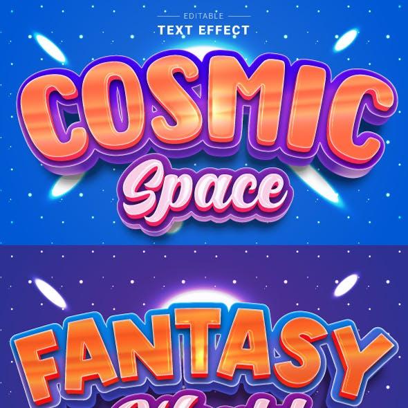 "Editable ""Shiny 3D Cartoon Text Effects"" for Illustrator."