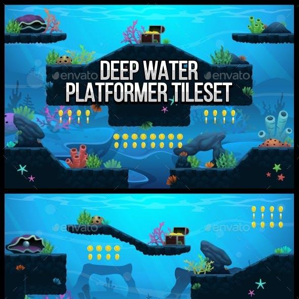 Deep Water - Platformer Tileset