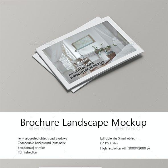 Brochure Landscape Mockup