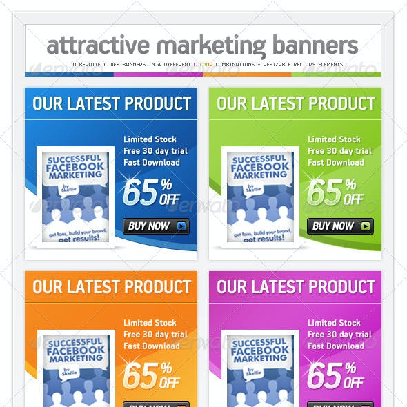 Online Marketing Pack - Web Banner Ads