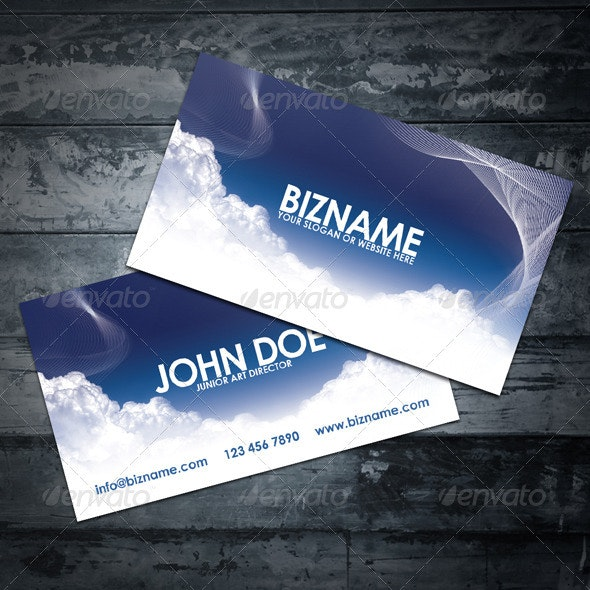Sky Business Card - Creative Business Cards