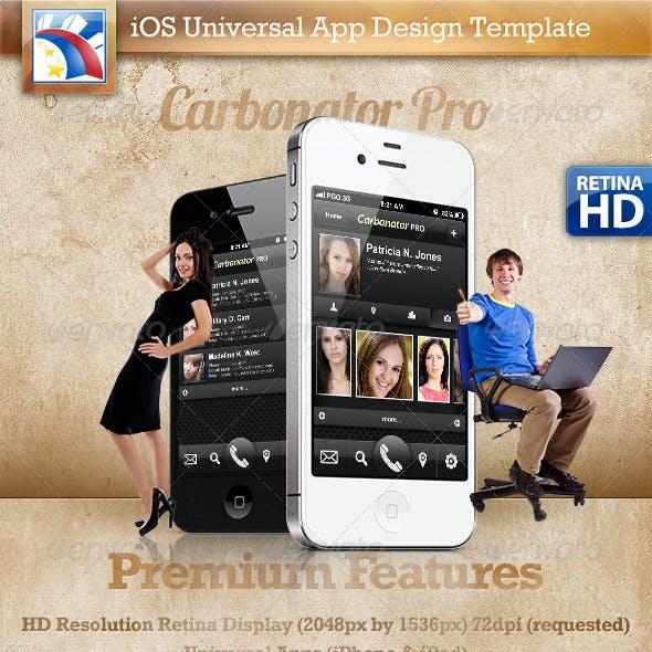 Carbonator iOS Pro Mobile Template Retina Display