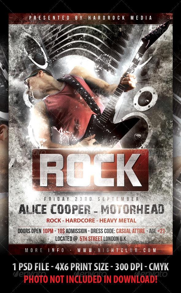 Rock Concert Flyer - Clubs & Parties Events