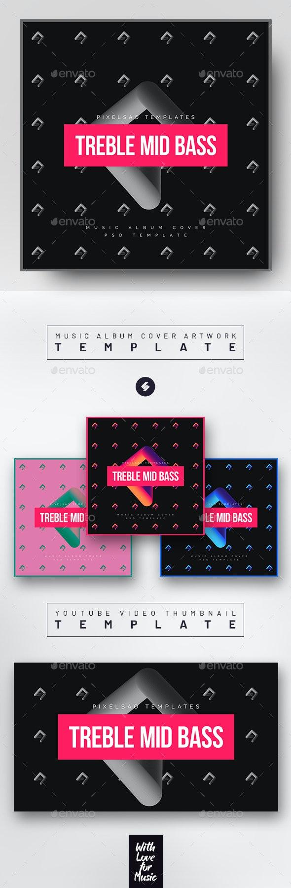 Electronic Music 2 – Album Cover Artwork Template - Miscellaneous Social Media