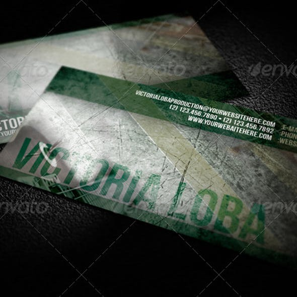 Green Texture Business Card