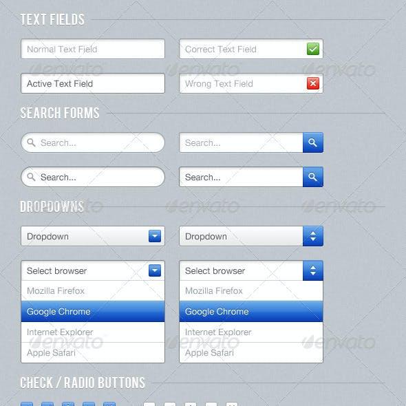 Blue Web UI Kit