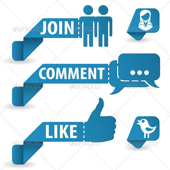 Social Media Stickers - Communications Technology