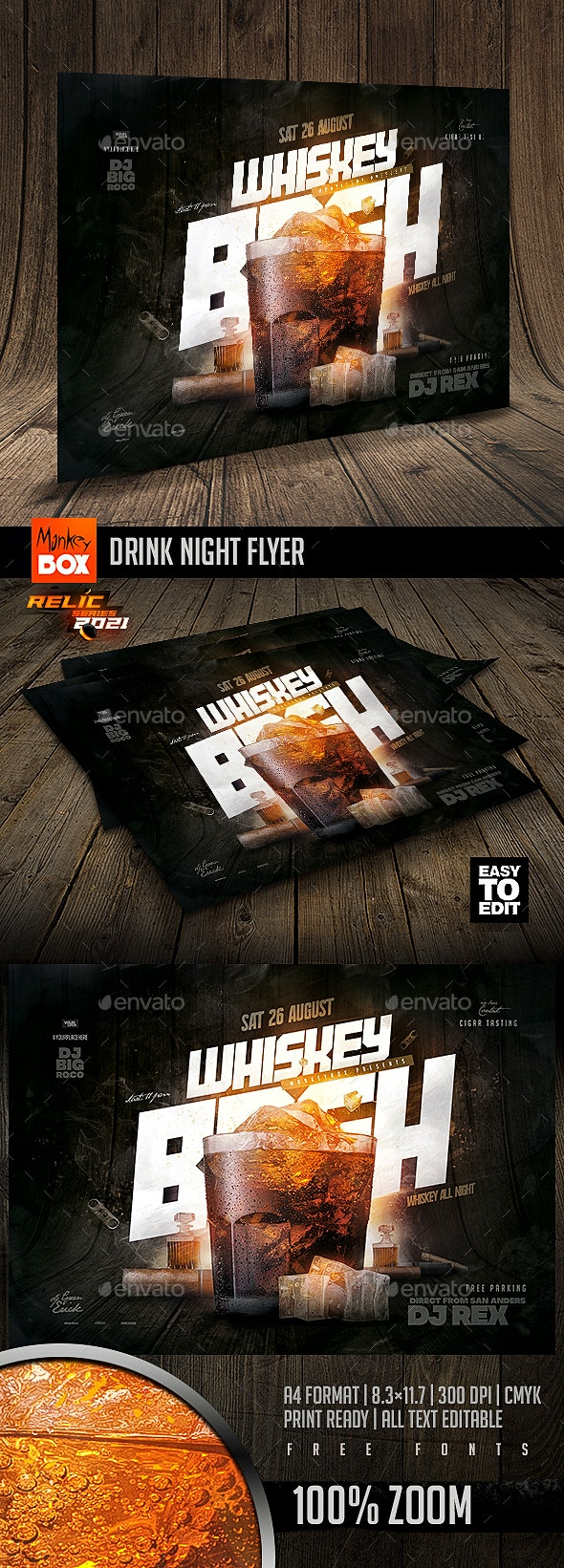 Drink Night Flyer - Events Flyers