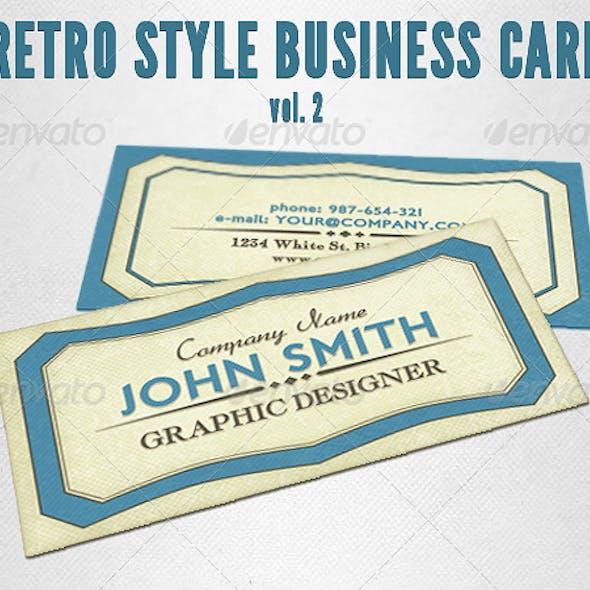 Retro Style Business Card Vol. 2