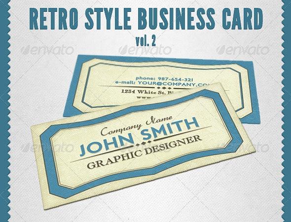 Retro Style Business Card Vol. 2 - Retro/Vintage Business Cards