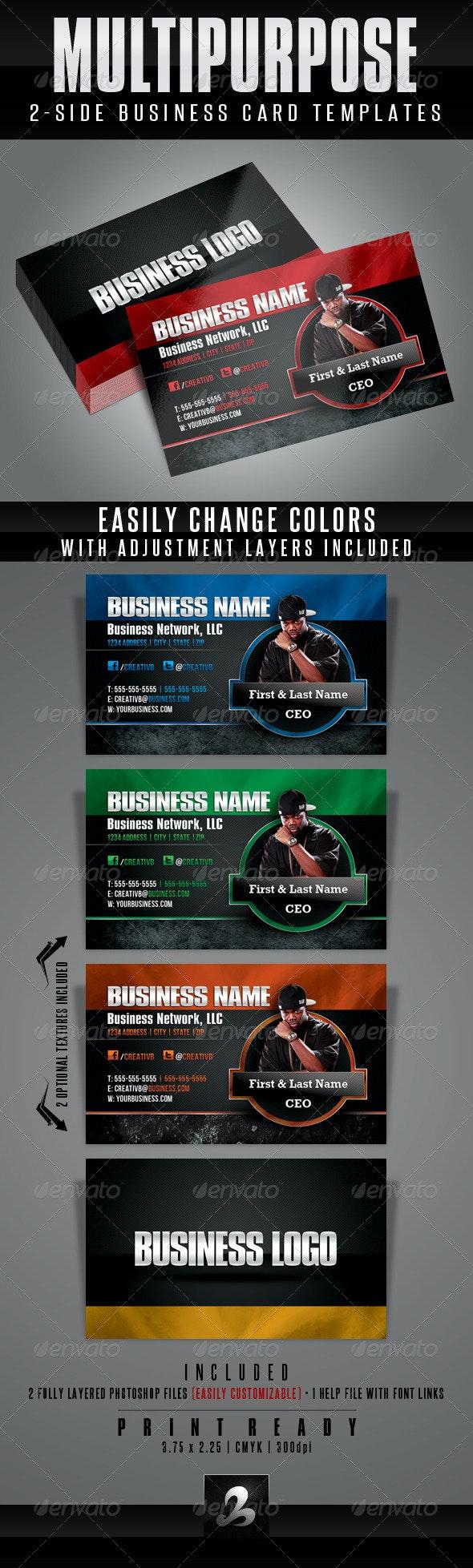 Multipurpose Business Card Templates 1 - Corporate Business Cards