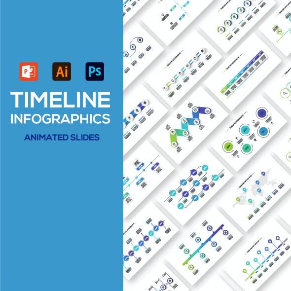 Timeline animated infographics