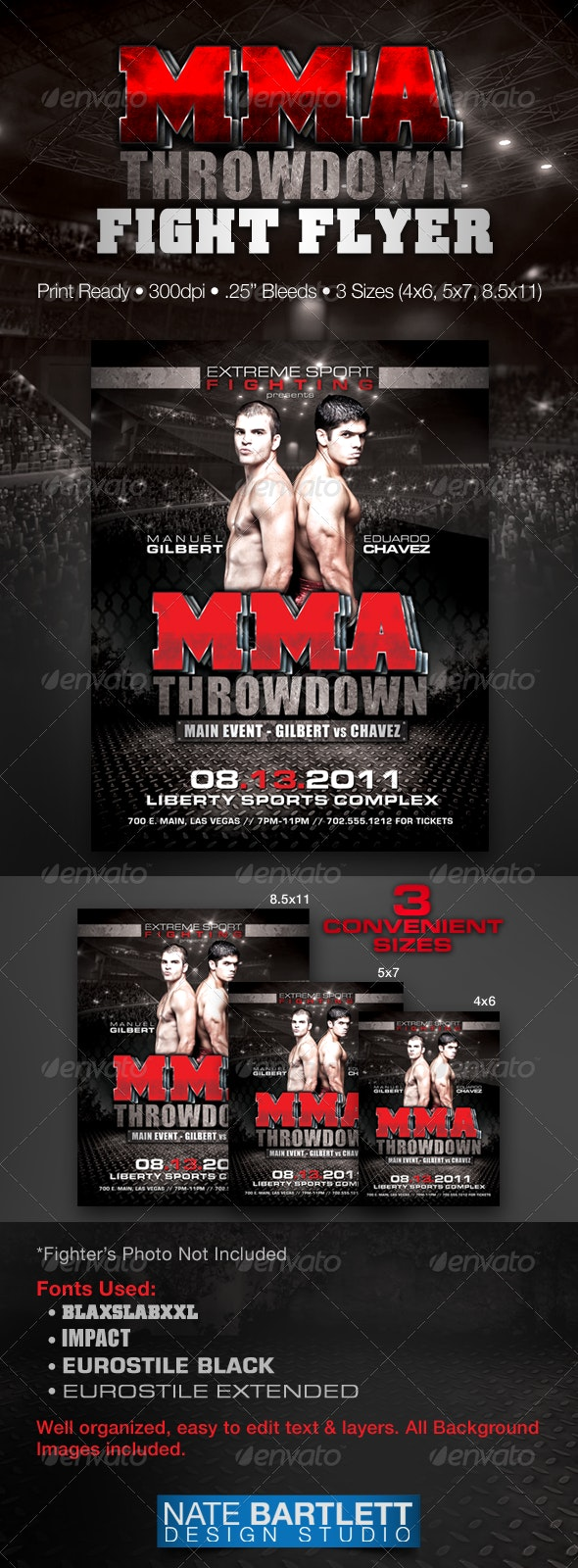 MMA Fight Flyer - Sports Events