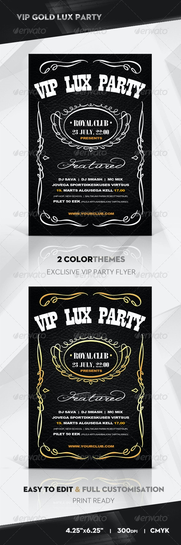 VIP LUX Flyer / Poster - Clubs & Parties Events