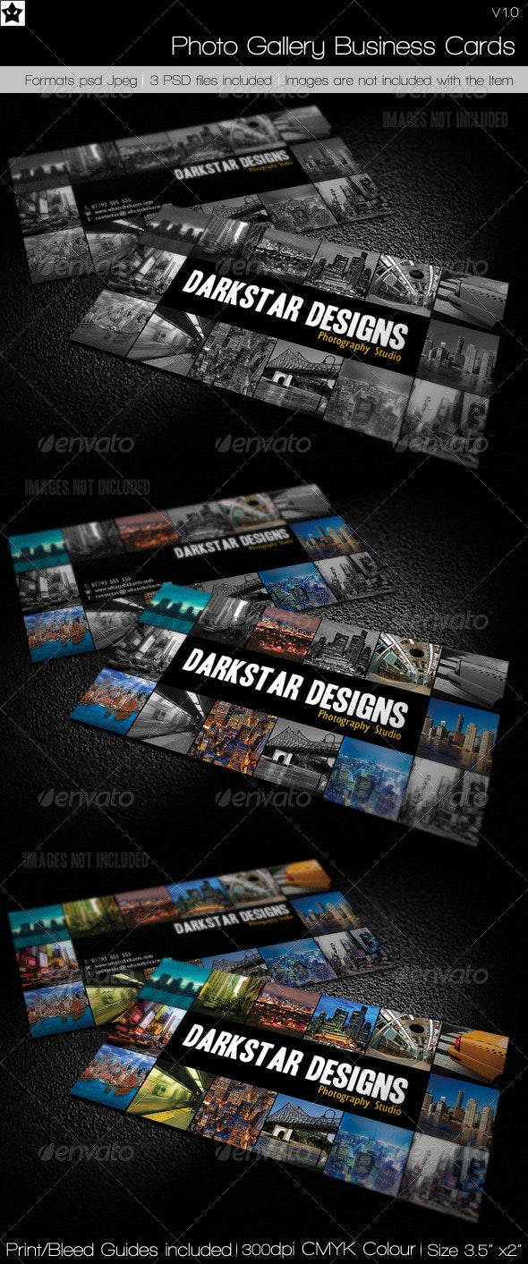 Photo Gallery Business Cards - Industry Specific Business Cards