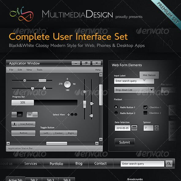 Complete Modern & Stylish User Interface Set
