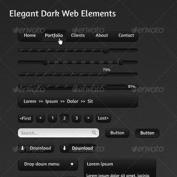 Elegant Dark Web Elements
