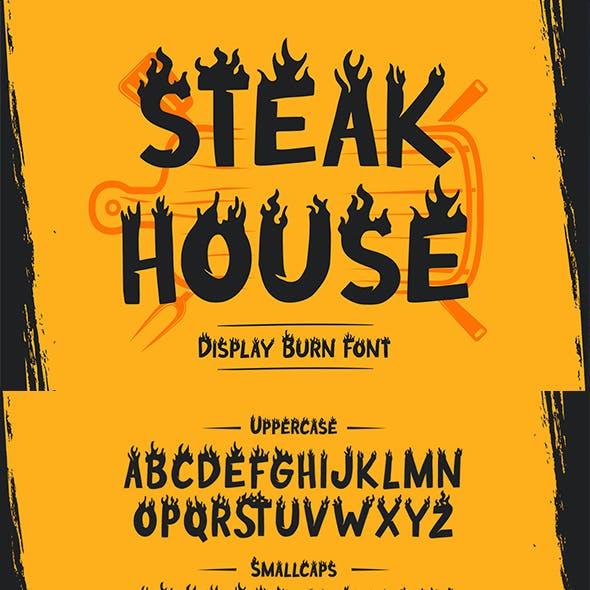 Steak House – Display Burn Font
