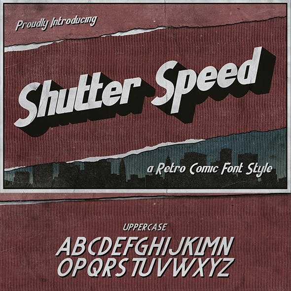 Shutter Speed – A Retro Comic Font
