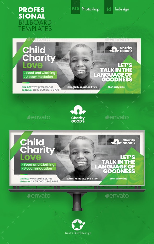 Charity Billboard Templates - Signage Print Templates
