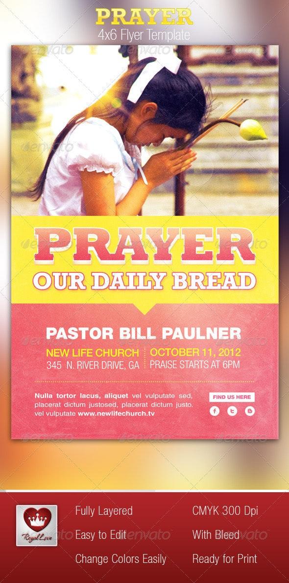 Prayer Church Flyer Template - Church Flyers