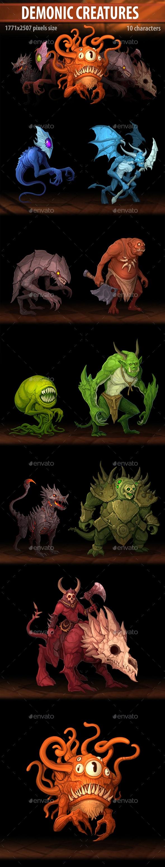 Demonic Creatures - Miscellaneous Game Assets