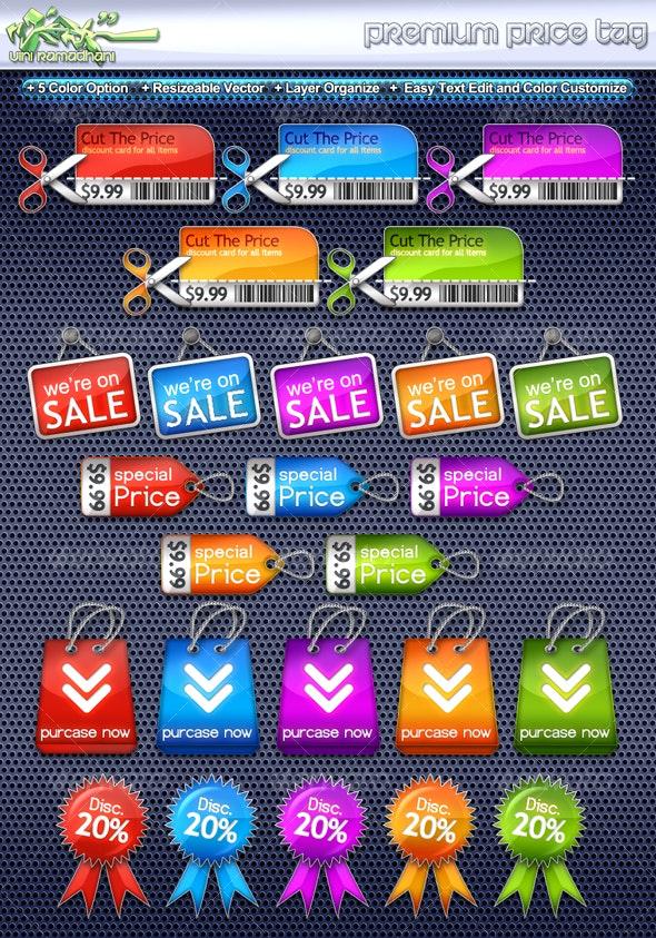 Premium Price Tag - Miscellaneous Web Elements