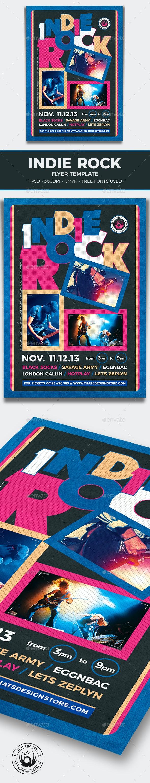 Indie Rock Flyer Template V13 - Concerts Events