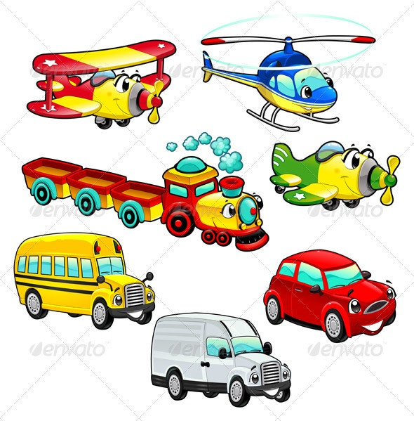 Funny vehicles.  - Miscellaneous Characters