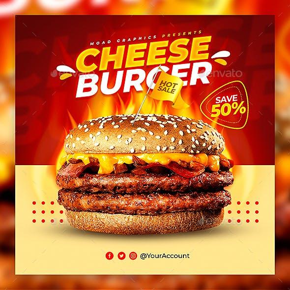 Cheese Burger Flyer Template