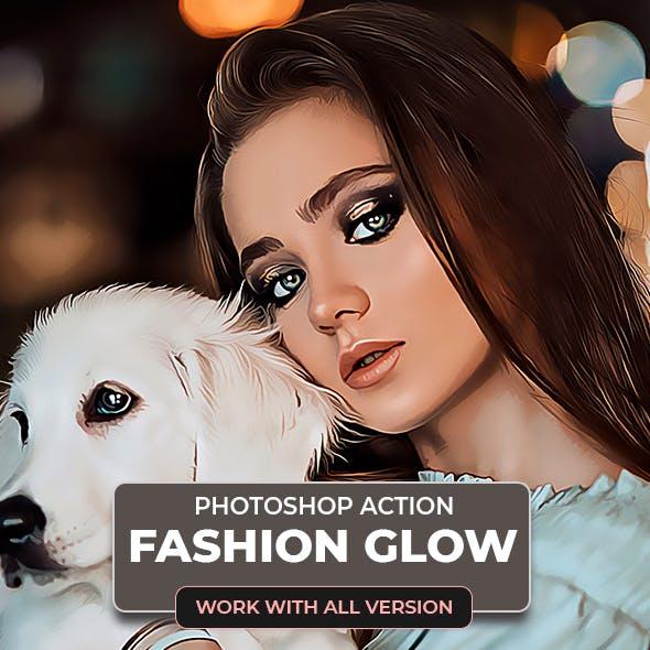 Fashion Glow Photoshop Action