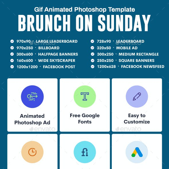 GIF Banners - Brunch Banners Ad