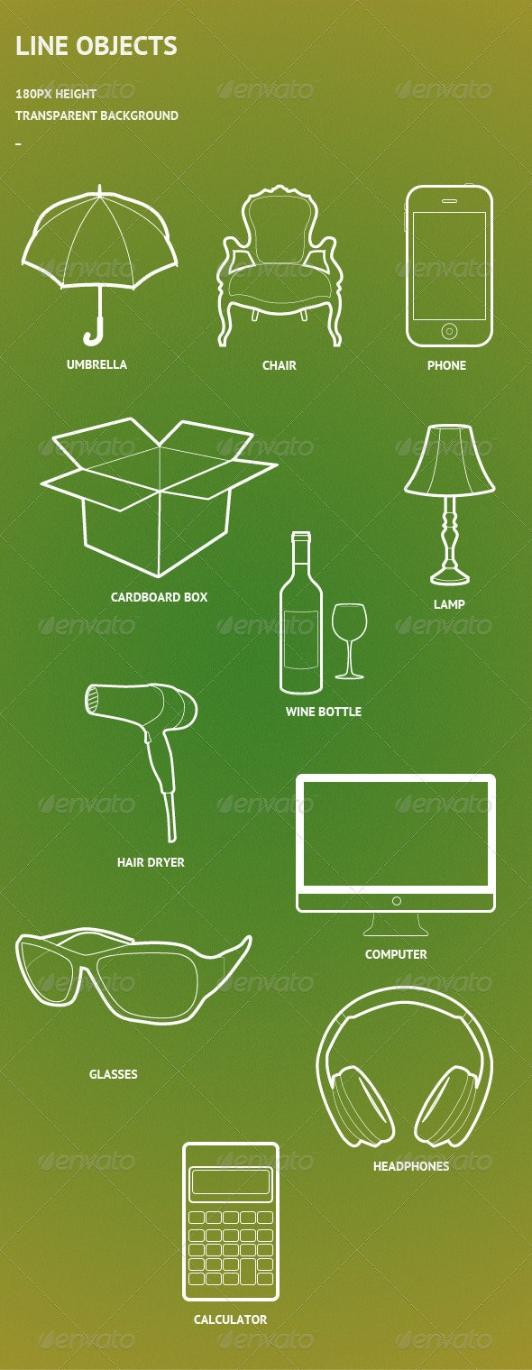 Line Objects - Miscellaneous Backgrounds
