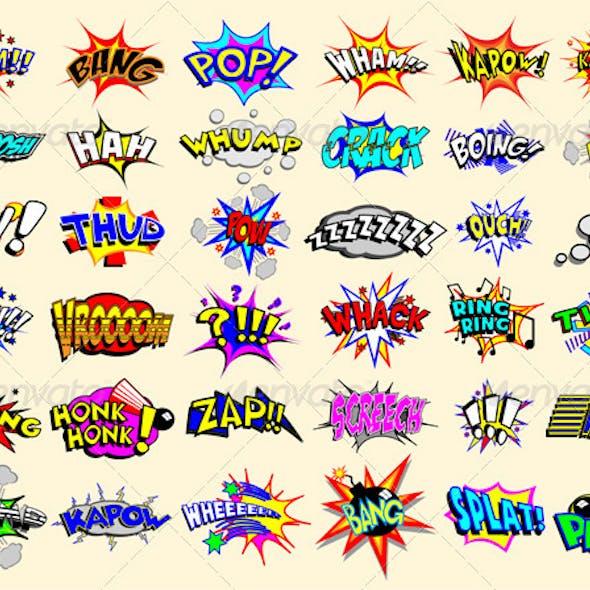 Cartoon Text Explosions