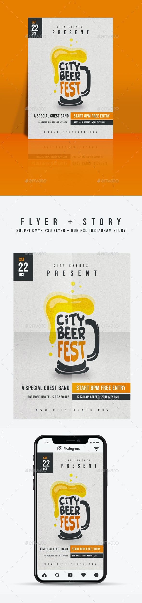 Beer Fest Flyer Template - Miscellaneous Events