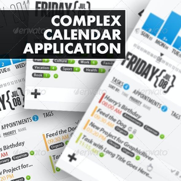 Complex Calendar Application