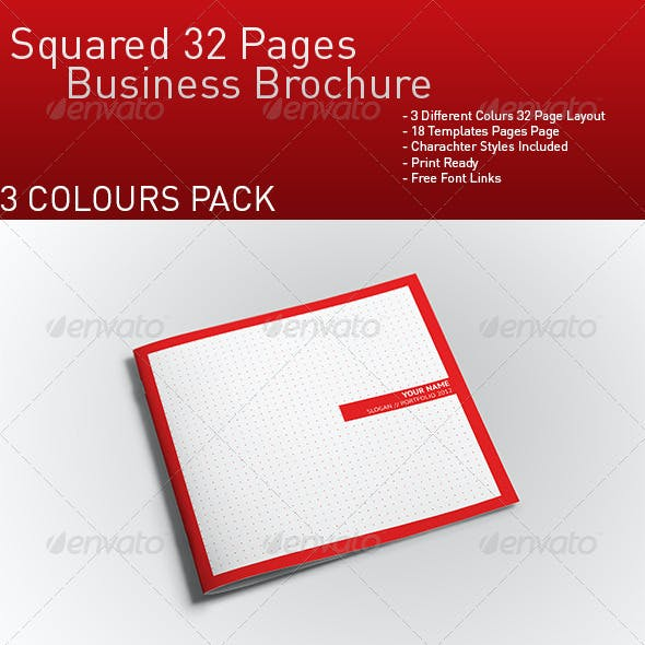 Squared 32 Pages Business-Portfolio Brochure