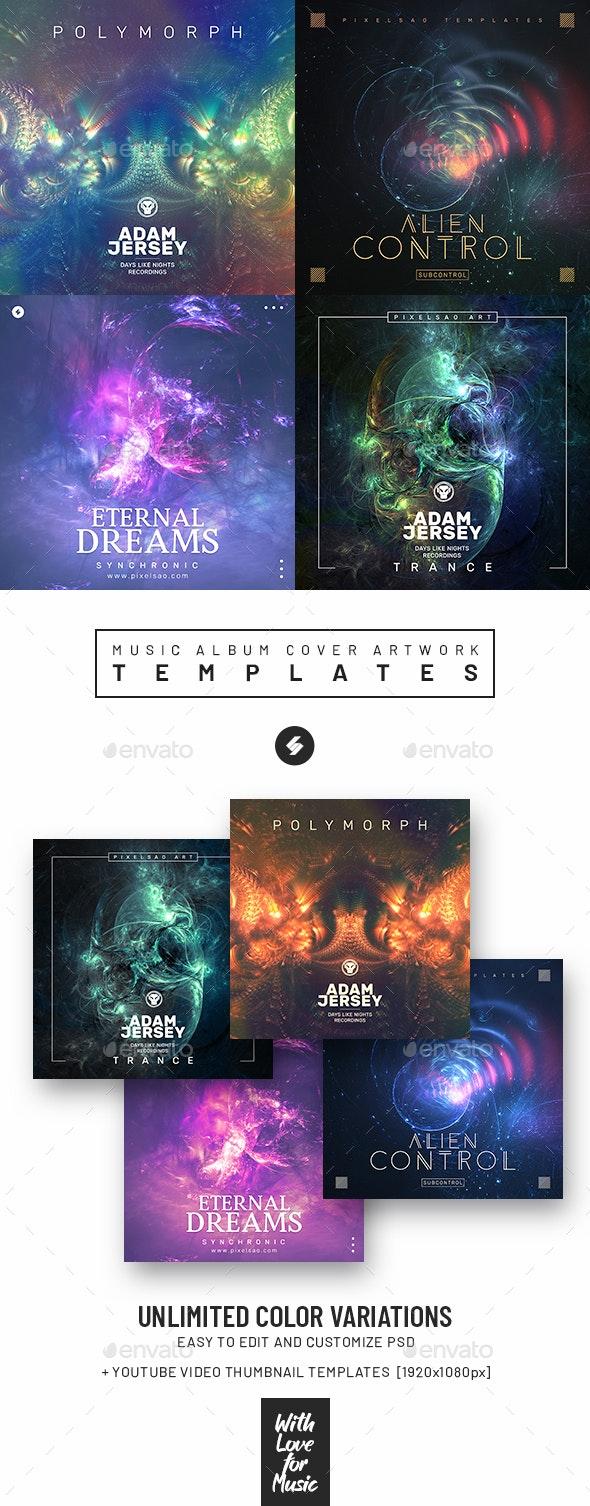 Music Album Cover Artwork Templates Bundle 72 - Miscellaneous Social Media