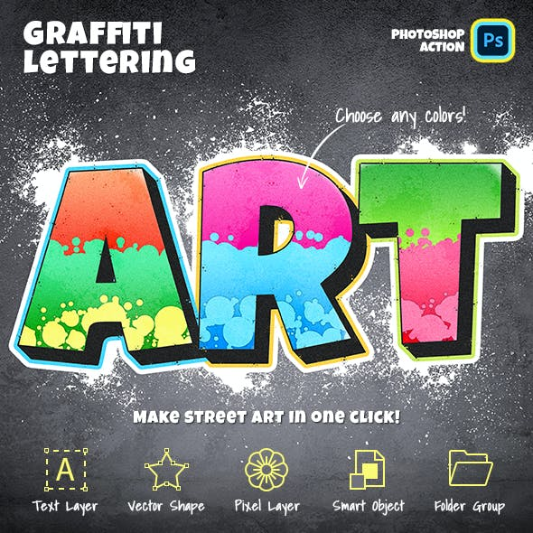 Graffiti Lettering Photoshop Action