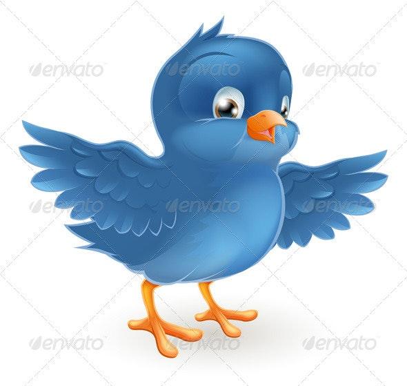Happy bluebird - Characters Vectors