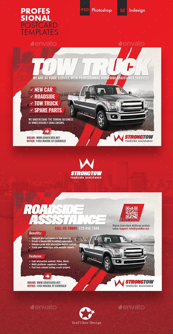 Tow Truck Postcard Templates - Cards & Invites Print Templates