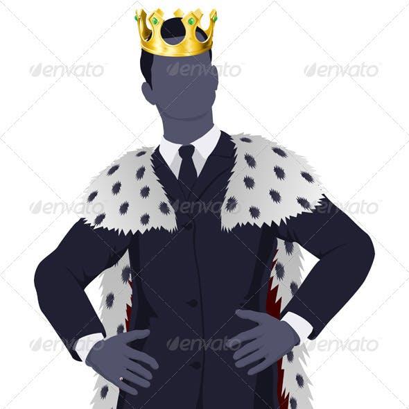 Business man king