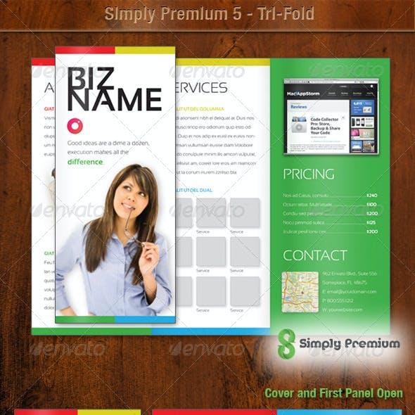 Simply Premium 5 – Tri-Fold Brochure